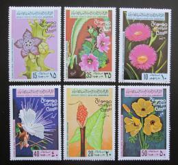 Poštovní známky Libye 1979 Kvìtiny Mi# 728-33