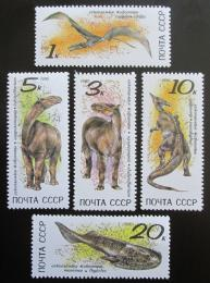 Poštovní známky SSSR 1990 Dinosauøi Mi# 6116-20