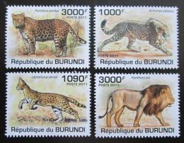 Poštovní známky Burundi 2011 Koèkovité šelmy Mi# 2022-25 Kat 9.50€