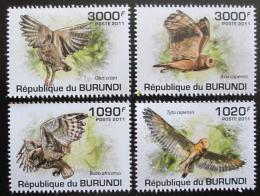 Poštovní známky Burundi 2011 Sovy Mi# 2098-2101 Kat 9.50€