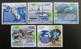 Poštovní známky Burundi 2012 Ohrožená moøská fauna Mi# 2590-94 Kat 9.50€ - zvìtšit obrázek