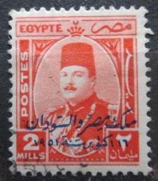 Poštovní známka Egypt 1952 Král Farouk pøetisk Mi# 357