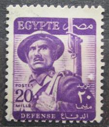 Poštovní známka Egypt 1953 Voják Mi# 403