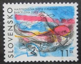 Poštovní známka Slovensko 2003 MS v plavání Mi# 462