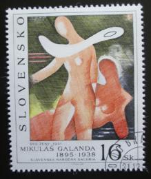 Poštovní známka Slovensko 1995 Umìní, Galanda Mi# 244