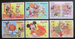 Poštovní známky Guyana 1997 Disney, Èínský nový rok Mi# 5821-26