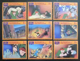 Poštovní známky Svatý Vincenc 1996 Disney, Chrám Matky Boží Mi# 3650-57