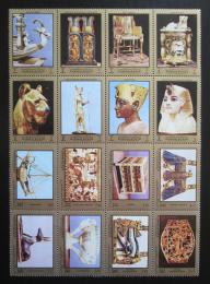 Poštovní známky Adžmán 1971 Artefakty z hrobky Tutanchamona Mi# 1276-91