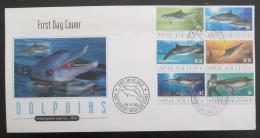 FDC Papua Nová Guinea 2003 Delfíni Mi# 1025-30