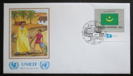 FDC OSN New York 1986 Vlajka Mauritánie Mi# 513