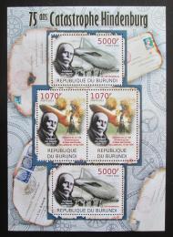 Poštovní známky Burundi 2012 Zkáza Hindenburgu DELUXE Mi# 2392,2394 Bogen Kat 10€