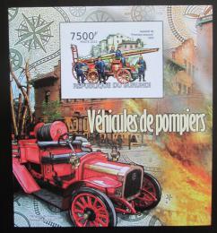 Poštovní známka Burundi 2012 Hasièi neperf. Mi# Block 217 B