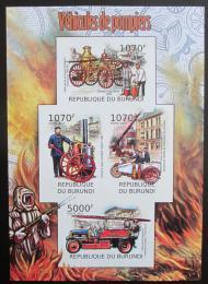 Poštovní známky Burundi 2012 Hasièi neperf. Mi# 2421-24 B