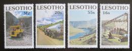 Poštovní známky Lesotho 1990 Stavba pøehrady Mi# 852-55 Kat 5€