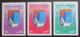 Poštovní známky Kuvajt 1988 Kulturnìsociální spolek žen Mi# 1150-52 Kat 8€