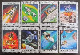 Poštovní známky Rwanda 1970 Let na Mìsíc, Apollo 13 Mi# 414-21