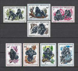 Poštovní známky Rwanda 1970 Gorila horská Mi# 400-07 Kat 11€