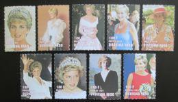 Poštovní známky Burkina Faso 1997 Princezna Diana Mi# N/N