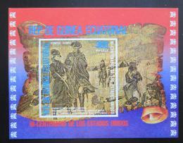 Poštovní známka Rovníková Guinea 1975 Americká revoluce Mi# Block 176 Kat 7.50€
