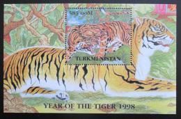 Poštovní známka Turkmenistán 1998 Tygøi Mi# N/N