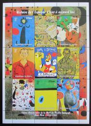 Poštovní známky Guinea 1998 Umìní, Joan Miró Mi# N/N