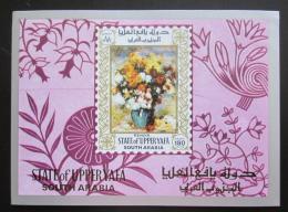Poštovní známka Aden Upper Yafa 1967 Umìní, Renoir Mi# Block 16