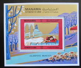Poštovní známka Manáma 1971 Šípková Rùženka Mi# Block 161 Kat 6€
