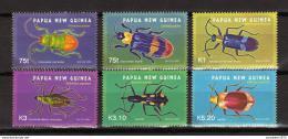 Poštovní známky Papua Nová Guinea 2005 Brouci Mi# 1140-45 Kat 10€