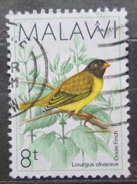 Poštovní známka Malawi 1988 Stehlíkovec oranžovozobý Mi# 505