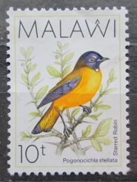 Poštovní známka Malawi 1988 Èervenka hvìzdièková Mi# 506