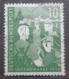 Poštovní známka Nìmecko 1952 Mládež a hostel Mi# 153 Kat 23€