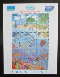 Poštovní známky Aruba 1997 Život v moøi Mi# Block 1 Kat 19€