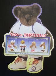Poštovní známky Maledivy 2002 Plyšový medvídek, 100. výroèí Mi# 4028-31 Kat 10€
