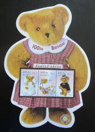 Poštovní známky Maledivy 2002 Plyšový medvídek, 100. výroèí Mi# 4032-34 Kat 10€