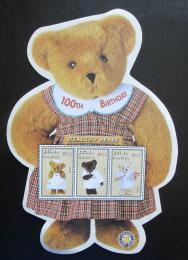 Poštovní známky Maledivy 2002 Plyšový medvídek, 100. výroèí Mi# 4035-37 Kat 10€