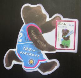 Poštovní známka Maledivy 2002 Plyšový medvídek, 100. výroèí Mi# Block 533
