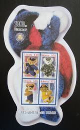 Poštovní známky Libérie 2002 Plyšový medvídek, 100. výroèí Mi# 4659-62