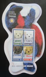 Poštovní známky Grenada 2002 Plyšový medvídek, 100. výroèí Mi# 4998-5001