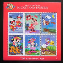 Poštovní známky Ghana 1998 Disney postavièky Mi# 2685-90