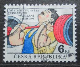 Poštovní známka Èeská republika 1993 MS juniorù ve vzpírání Mi# 8