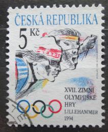 Poštovní známka Èeská republika 1994 ZOH Lillehammer Mi# 34