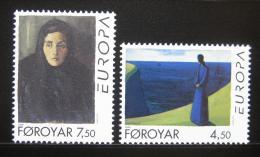 Poštovní známky Faerské ostrovy 1996 Evropa CEPT, umìní Mi# 296-97