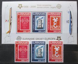 Poštovní známky Surinam 2006 Evropa CEPT Mi# 2028-30, Block 100 Kat 22€