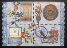 Poštovní známky Alandy, Finsko 1999 Lidové umìní Mi# 149-52
