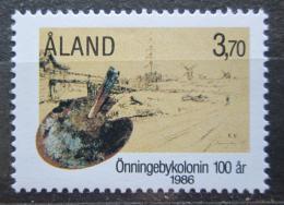 Poštovní známka Alandy, Finsko 1986 Umìlecká kolonie, 100. výroèí Mi# 19 Kat 5€