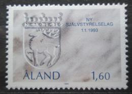 Poštovní známka Alandy, Finsko 1993 Znak ostrova Mi# 65