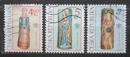 Poštovní známky Èeská republika 1999 Lidové umìní Mi# 228-30