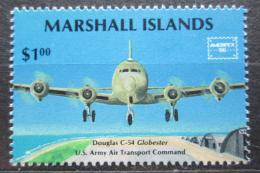 Poštovní známka Marshallovy ostrovy 1986 Letadlo Douglas C-54 Mi# 81