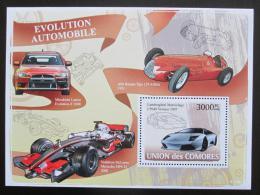 Poštovní známka Komory 2008 Automobily Mi# Block 434 Kat 15€ - zvìtšit obrázek