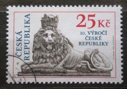 Poštovní známka Èeská republika 2003 Socha lva, Josef Max Mi# 345